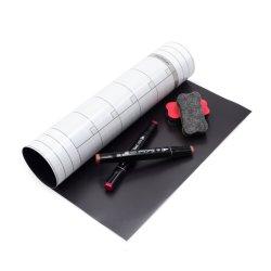 Rollo de papel de la superficie de los imanes de PVC flexible de goma