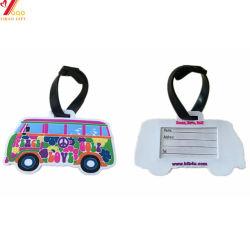 Usine de personnaliser le matériel en PVC transparent coloré de promotion du Silicone/Silicone/PVC souple en caoutchouc/nom Tag/Luggage Tag pour cadeaux promotionnels (YB-LT-002)