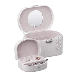 White PU Embalagem Caixa de jóias personalizadas de couro
