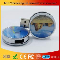 2019 Fabricant Custom coin lecteur Flash USB/ Metal tournant la clé USB