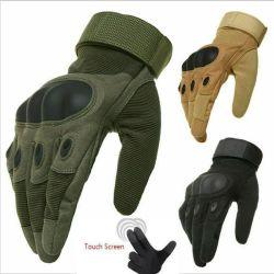 Con dedos Hard Knuckle Airsoft táctico militar de la pantalla táctil al aire libre guantes