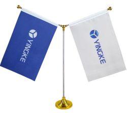 Kundenspezifisches Polyester-nationale Verein-Schreibtisch-Markierungsfahne für förderndes Geschenk