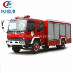 Clw Isuzu 4*2 190HP는 판매를 위해 물 5000 리터 & 1000 리터 소방차, 화재 싸움 거품 트럭을 사용했다