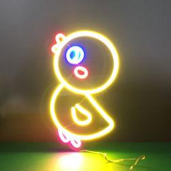 Светодиод Неоновые Вывески на детские комнаты мотивы Duckling освещения