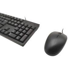 104のキー携帯用USBのプラグの卓上コンピュータキーボードによってワイヤーで縛られるキーボードマウス