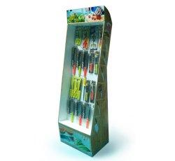 Papel Pop Merchandising Camisola de chão de papelão ondulado com ganchos de Exibição de papelão prendedores para carregador de automóvel de extensão de cabelo