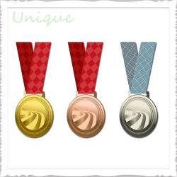 Kundenspezifisches Metall macht Goldsilberne Karnevals-Trophäe-Medaillen für fördernde Geschenk-Felder in Handarbeit