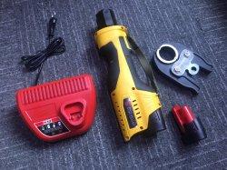 電池のPexのひだ付け装置の管の配管の圧着工具キット