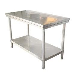 Mobiliário comercial Worbench Undershelf Nível 2 com mesa de Aço Inoxidável