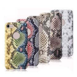 Serpentina de moda PU Tampa da Caixa de telefone celular de couro para iPhone 6/7/8plus