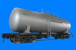 70t Vagão do tanque de transporte ferroviário do tanque de óleo leve Comboio completo Vagões