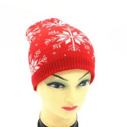 주문품 새로운 형식 남자 및 여자를 주문하는 것은 색깔 모직 공 온난한 베레모 겨울 눈 자카드 직물에 의하여 수를 놓은 뜨개질을 한 모자 베레모 모자를 섞었다