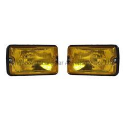 12V 55W 4-дюймовый желтые лампы с квадратной головкой Denji Jeep противотуманного фонаря