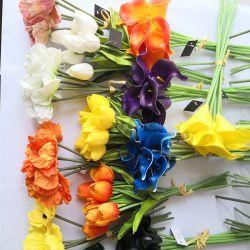 De goedkope Natuurlijke Kunstbloem van de Aanraking Pu voor de Decoratie van het Huwelijk van het Huis