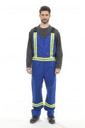 炎のこんにちは気力テープが付いている抵抗力がある青い胸当てのズボン