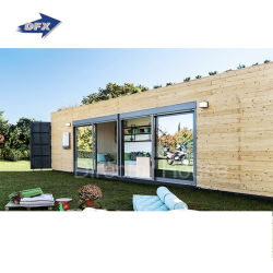 El envío de prefabricados de lujo pequeño recipiente portátil casa de madera para la vida