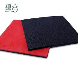Rot Composite Gummi Bodenfliesen Neueste Hochwertige Bodengummi Mat
