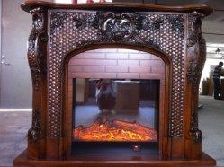 El tallado a mano pura chimenea de mármol travertino de lujo manto