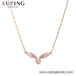 Leaf-Shaped Imitation Jewelry Chain Halskette