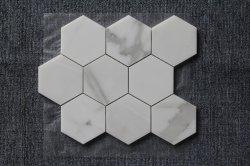 Итальянский белый/Calacatta мраморный камень/Лист ванная комната и кухня Back-Splash ромб/Big/болты с шестигранной головкой внутренней стены оформлены/мозаики и плитки