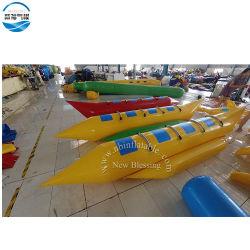 Almofada insuflável barco banana split Funny brinquedos para Parque Mar