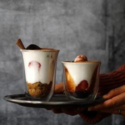 200/300 ml en verre borosilicaté haute paroi double jeu de la tasse de café expresso