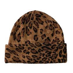Dame de l'hiver chaud Leopart Fashion Super Doux Brassard Hat Cap d'impression
