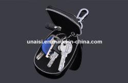 Lederner Mappen-Halter tragen Reißverschluss-Beutel-Schlüsselkasten mit Keychain