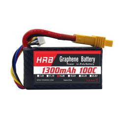 Hrb Graphene 4s 1300mAh 14,8 V 100c Lipo Bateria Xt60 para aviões RC zang s