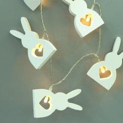 電池の操作 Bunny イースター装飾のライト・ストリング