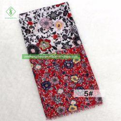 Venta caliente Pañuelo de seda satén impresos Floral Mantón de dama moda