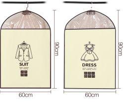 맞춤형 OEM 투명 PVC 창문 접이식 여행용 비 우븐 복장 의류 백