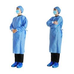 Médicos descartáveis vestido cirúrgica vestido de isolamento de camada de vestuário