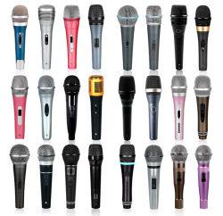 De professionele Draadloze Dynamische Microfoon van de Draad/de Handbediende Microfoon van de Opname van de Hoofdtelefoon Microphone/VHF UHF