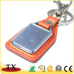Cadeia de Chaves de PU de alta qualidade Orange PU Chaveiro de couro