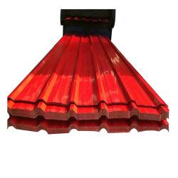 مواد البناء السقف المعدني المطلى مسبقًا بلون Bwg34 PPGI سعر الورقة 20 المقياس Gi لفن الورق المسقوف المموج ورقة