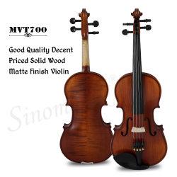 Sinomusik Fleck-Antike-Ebenholz zerteilt Violine Matt-Brown mit natürlicher Flamme