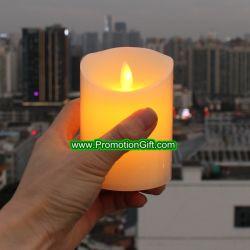 Sin flama velas LED de mecha de movimiento eléctrico