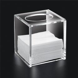 Cina alta qualità personalizzata quadrato acrilico trasparente bella scatola di tessuto