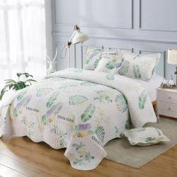 Fabricado na China Fashion cama estilo edredão cobrir com travesseiros 3cama PCS Conjunto da Tampa