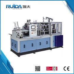Diseños contemporáneos de la velocidad media máquina de fabricación de vasos de papel para pastel