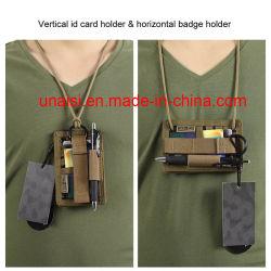 Double côté crochet et boucle Patch ID Nom de cou le titulaire de carte