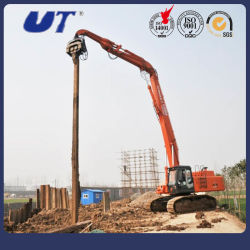 40 toneladas de pilotes máquina excavadora hidráulica tipo giratorio martillo montón