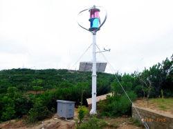 La generadora de energía del viento vertical con panel solar de carga del sistema independiente de las baterías de 48V.