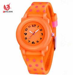 Nouveau mode d'enfants de regarder le verre plastique cadeau en caoutchouc de silicone watch#V702