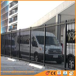Revêtement poudré noir de l'Industrie Résidentiel Commercial enfoncé lance haut Clôture