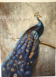 Emoldurados artesanais Peacock pinturas a óleo para a decoração de paredes