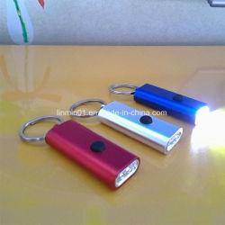 Custom подарок для продвижения 3 Светодиодный фонарик с цепочки ключей