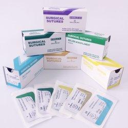Medizinisches chirurgisches Naht-Nylonpolypropylen-Silk Polyesterchromsäurehaltiger normaler Catgut