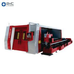 Tube de métal et de la plaque de découpe laser à fibre 1000W pour tube de tôle et de la coupe
